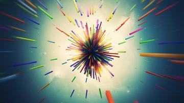 彩色彩笔抽象背景-好运图库