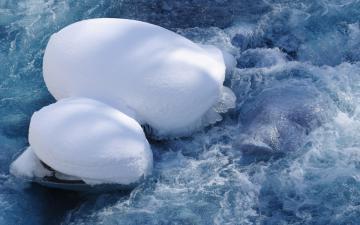 融化的冰雪图片-好运图库