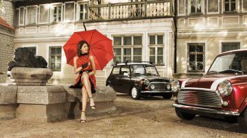 城市建筑汽车与美女-好运图库