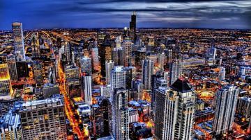 现代化城市夜景高清壁纸