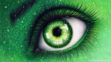 神秘的蓝色眼睛