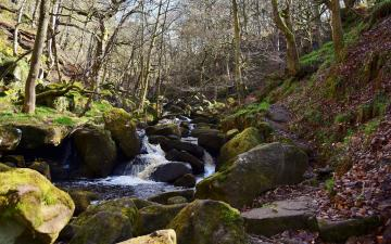 山头小溪美景摄影