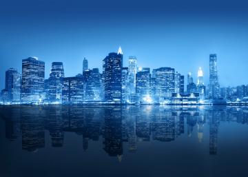 纽约海岸夜景