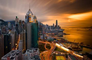 黄昏香港风景