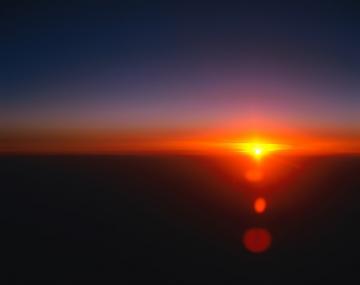 美丽夕阳景色