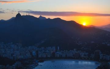 里约黄昏风景壁纸