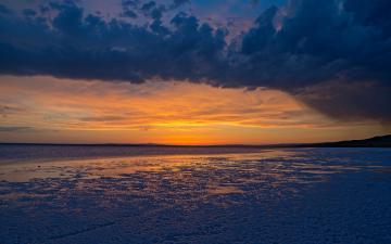 黄昏海滩风景壁纸