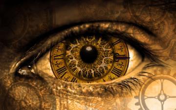 创意眼睛钟表壁纸