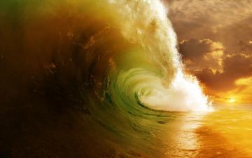 浩瀚无边的湛蓝的海洋-好运图库