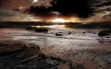 夜色中海滩-好运图库